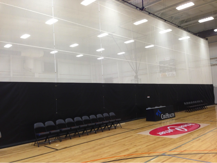 Gym Divider Curtains For Multiple Team Practices Carroll
