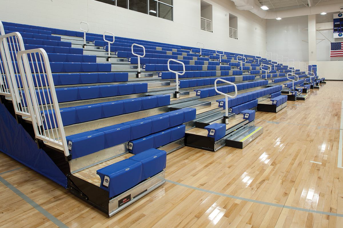 Ada Compliant Gym Bleachers For Your School S Gymnasium Carroll Seating Company