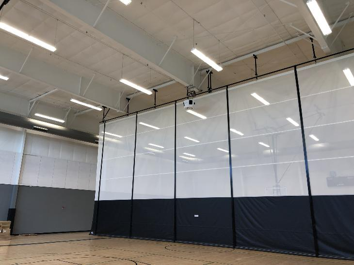 Gym Divider Curtains Bleachers Carroll Seating Company